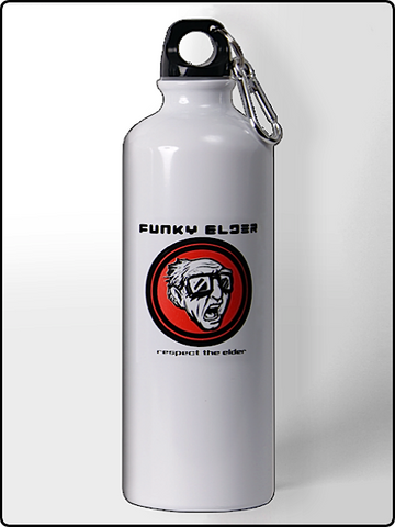 water bottle, funky elder water bottle, 25 oz. water bottle, white water bottle, bpa free water bottle, designer water bottle, cool water bottle, funny water bottle, cold