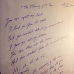 Hand-Written Chorus Lyrics