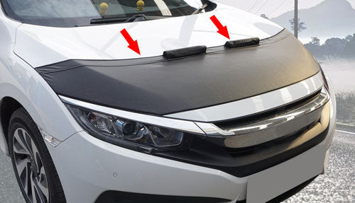 Bonnet Bras are made of high quality PVC vinlex leather. Front end bras are  also vehicle-specific. While protecting the front of your vehicle, Bonnet bra will protect your vehicle against flies, rust, road and insect residues , as well as hide scratches