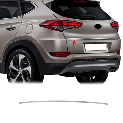 Chrome Tailgate Trim Trunk Moulding Brushed S.Steel for Hyundai Tucson 2016-2018 Omac Shop Usa - Auto Accessories