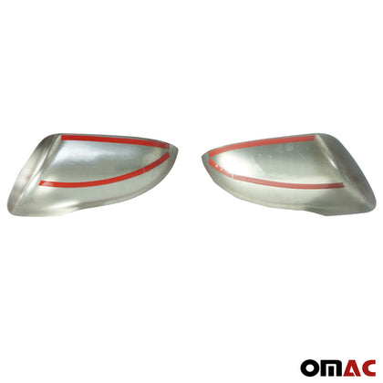 Fits Kia Sorento 2016-2019 Stainless Steel Chrome Side Mirror Cover Cap 2 Pcs Omac Shop Usa - Auto Accessories
