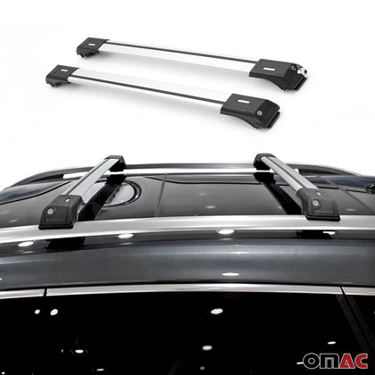 Roof Rack Cross Bars Cross Rails Alu. Silver 2Pcs for Subaru Forester 2009-2014