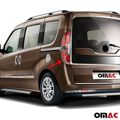 Fits RAM Promaster City 2015-2020 Chrome Stop Brake Light Frame 2 Pcs Omac Shop Usa - Auto Accessories