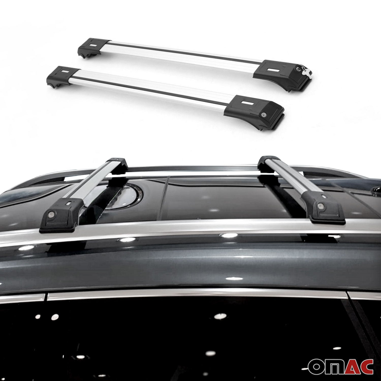 Roof Rack Cross Bars Luggage Carrier Silver for Mercedes M Class ML 163 1998-05