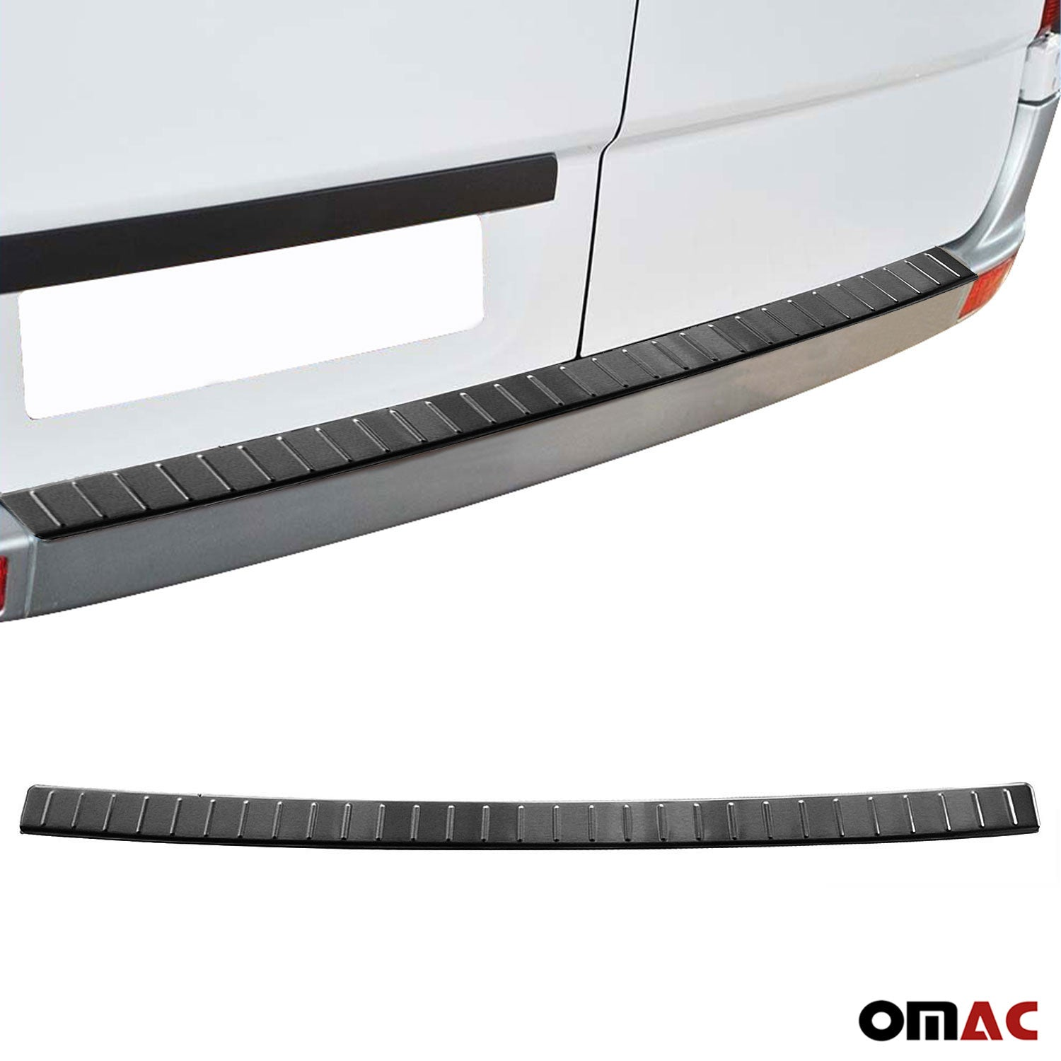 Dark Brushed Chrome Rear Bumper Trunk Sill Cover For VW Crafter  2006- 2017