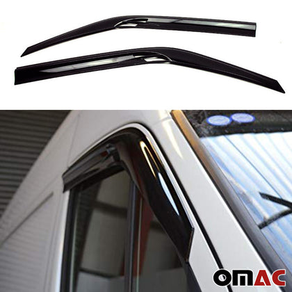 Window Visor Vent Sun Shade Rain Guard 2pcs Fits Dodge MB Sprinter 2007-2018