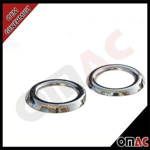 FORD TRANSIT 150/250/350 2014- Chrome Front Fog Light Surround Lamp Bezel 2pcs