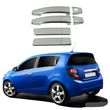 Omac usa - Chrome Side Door Handle Cover S.Steel for Chevrolet Sonic 2012-2019 Hatchback - Omac Shop Usa - Auto Accessories