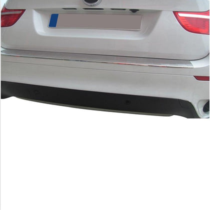 Fits BMW X6 E71 2008-2014 Chrome Rear Bumper Guard Trunk Sill Protector Brushed
