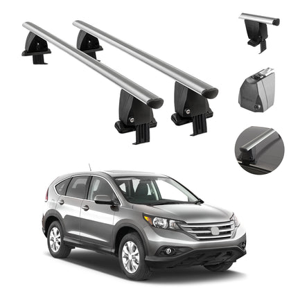 Silver Smooth Top Roof Rack Crossbar Luggage Carrier For Honda CR-V 2017-2021