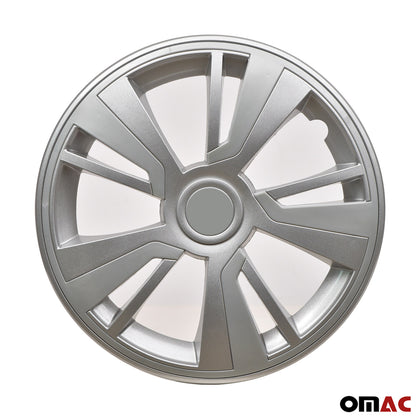 16'' Hubcaps Wheel Rim Cover Grey with Light Grey Insert 4pcs Set