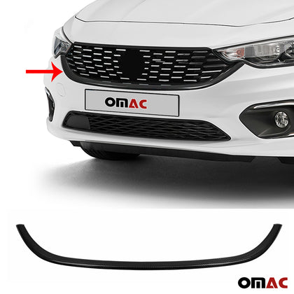 Fits Fiat Tipo 2015- 2020 Genunine Carbon Front Grill Trim Streamer 1 Pcs