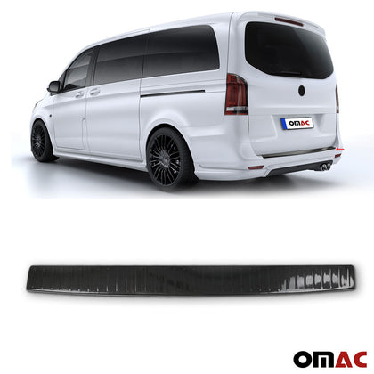 Fits Mercedes Metris 2016-2020 Carbon Rear Bumper Guard Trunk Sill Protector