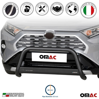 For Toyota RAV4 Hybrid 2019-2020 Black S.Steel Bull Bar Front Bumper Grill Guard - Omac Shop Usa - Auto Accessories