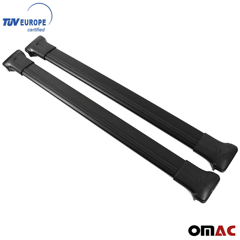 Roof Rack Cross Bars Luggage Carrier Black Set 2Pcs for BMW X5 2000-2006