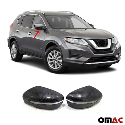 For Nissan Rogue Sport 2017-2021 Genuine Carbon Fiber Side Mirror Cover Cap 2 Pc