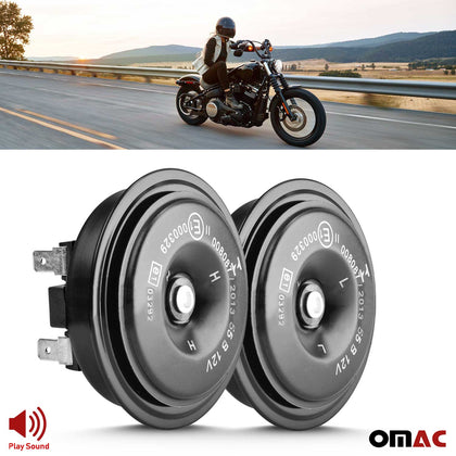12V Waterproof Loud 55dB Horn Car Motorcycles Bike Mini Black Disc