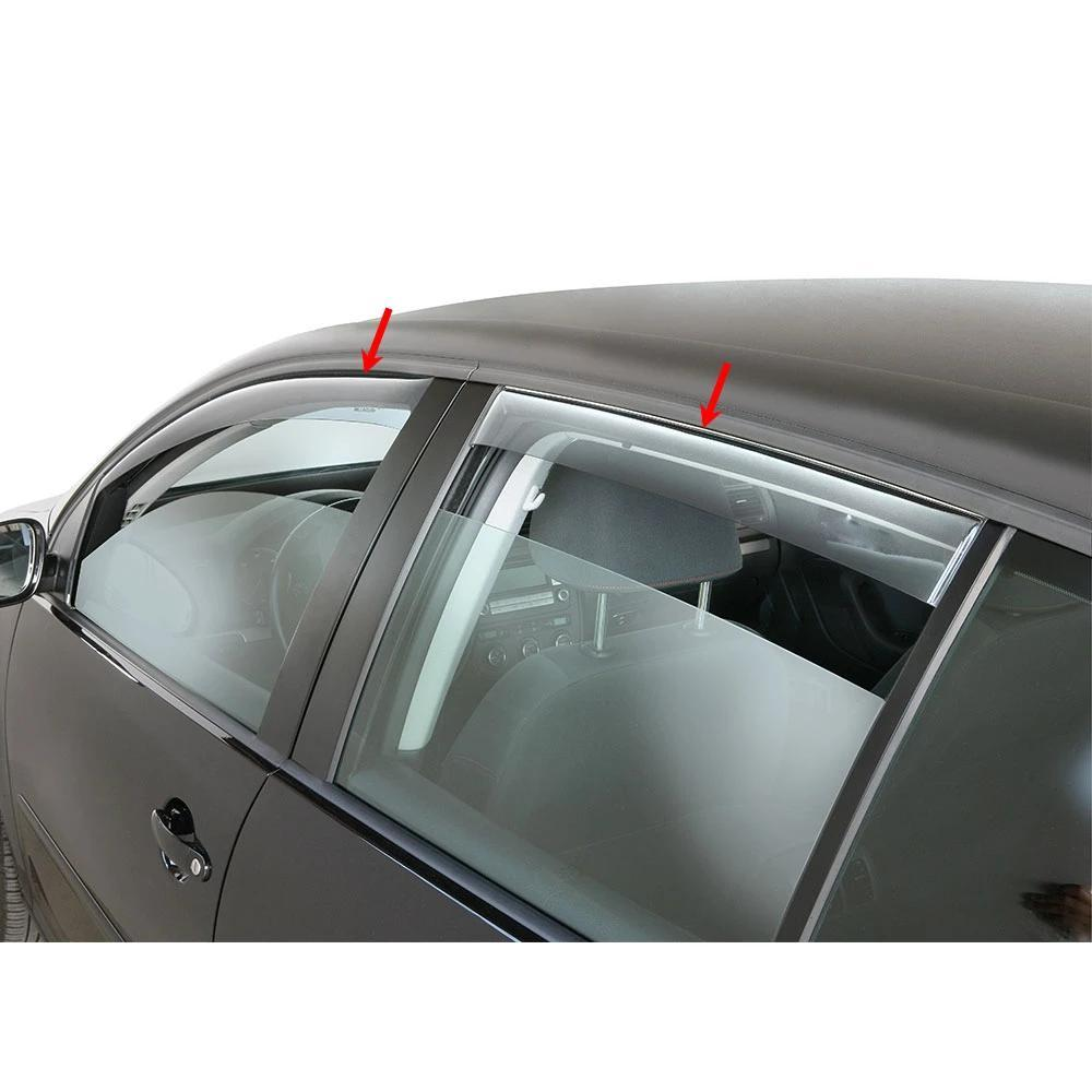 Window Visor Vent Sun Shade Rain Guard 4pcs Fits Mercedes C CLass W204 2007-13