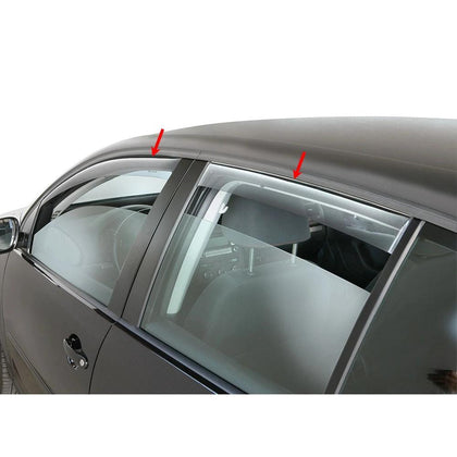 Window Visor Vent Sun Shade Rain Guard 4pcs Fits Dodge Journey 2009-