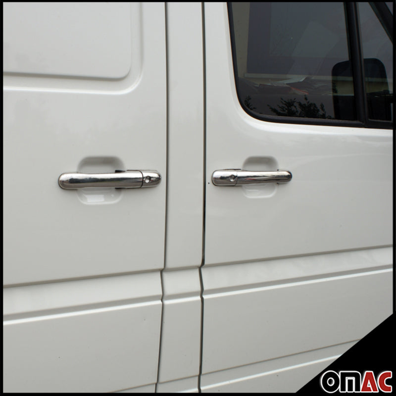 For Dodge Mercedes Sprinter W906 2007-2018 Chrome Door Handle Cover S.Steel 8Pcs