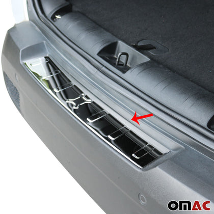 Fits JEEP Renegade 2015-2018 Chrome Rear Bumper Guard Trunk Sill Cover S.Steel Omac Shop Usa - Auto Accessories