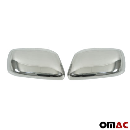 Fits Suzuki Equator 2009-2013 Chrome Side Mirror Cap Cover Stainless Steel Set Omac Shop Usa - Auto Accessories