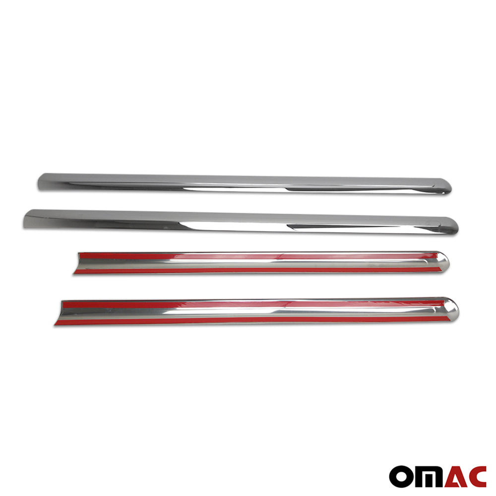 Fits Ford Transit Connect 2010-2013 Chrome Side Door Trim Stainless Steel 4 Pcs