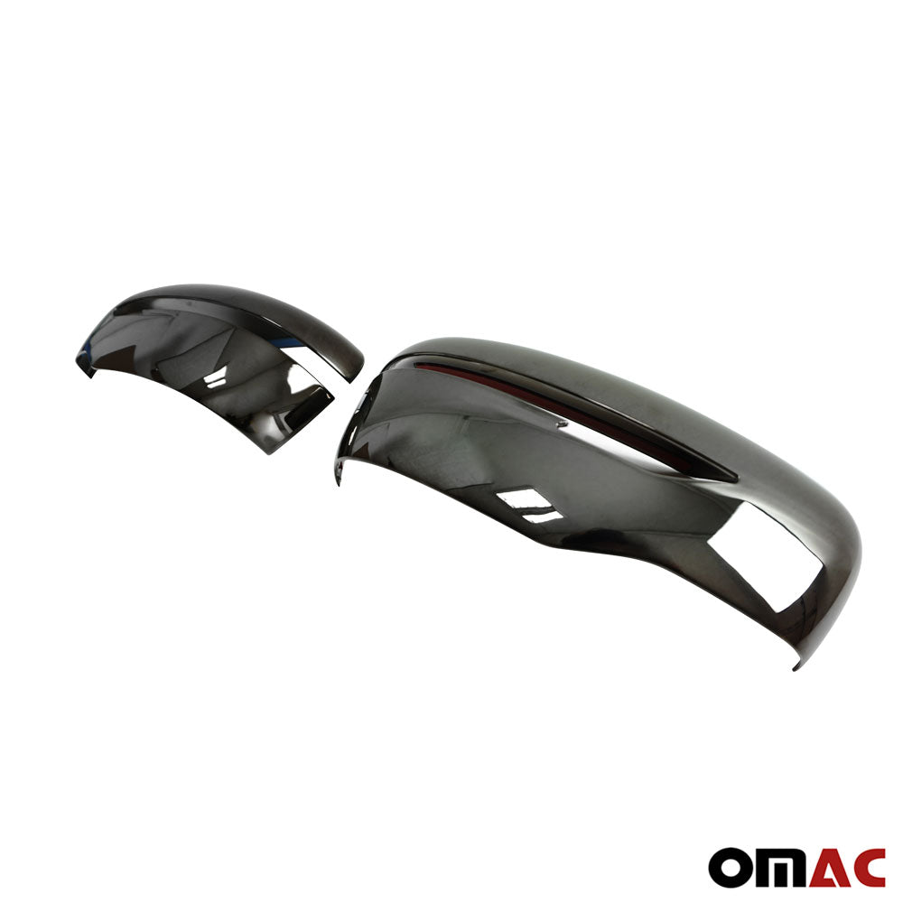 Fits Nissan Kicks 2018-2020 Dark Chrome Side Mirror Cover Cap 2 Pcs