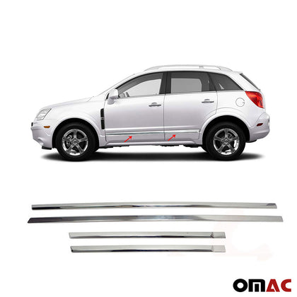 For Saturn Vue 2008-2010 Chrome Side Door Trim Guard Stainless Steel 4 Pcs