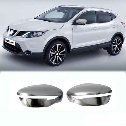 For Nissan Rogue Sport 2017-2021 Satin Chrome Side Mirror Cover Caps 2x