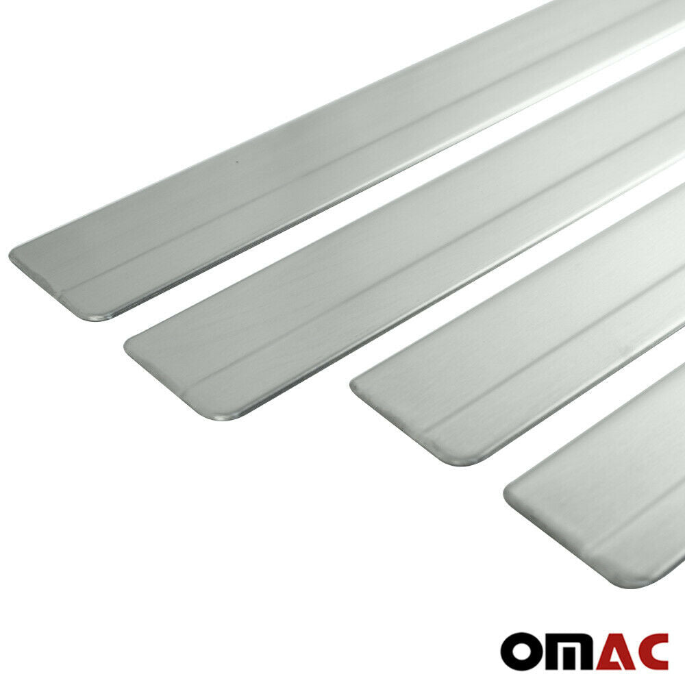Chrome Door Sill Scuff Plate Guard S.Steel Trim for VW Amarok 2010-2021