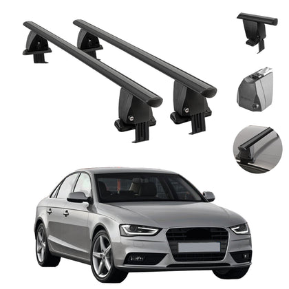 Fits Audi A4 Sedan 2013-2016 Smooth Top Roof Rack Cross Bar Cargo Carrier Black