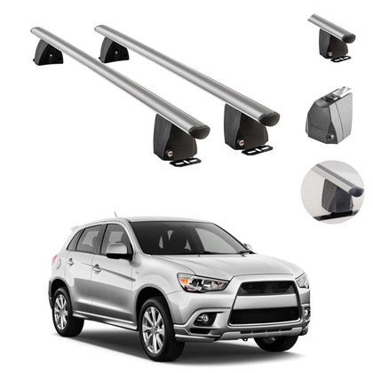 Fits Mitsubishi Outlander Sport 2011-2021 Fixed Point Roof Rack Rail Cross Bar