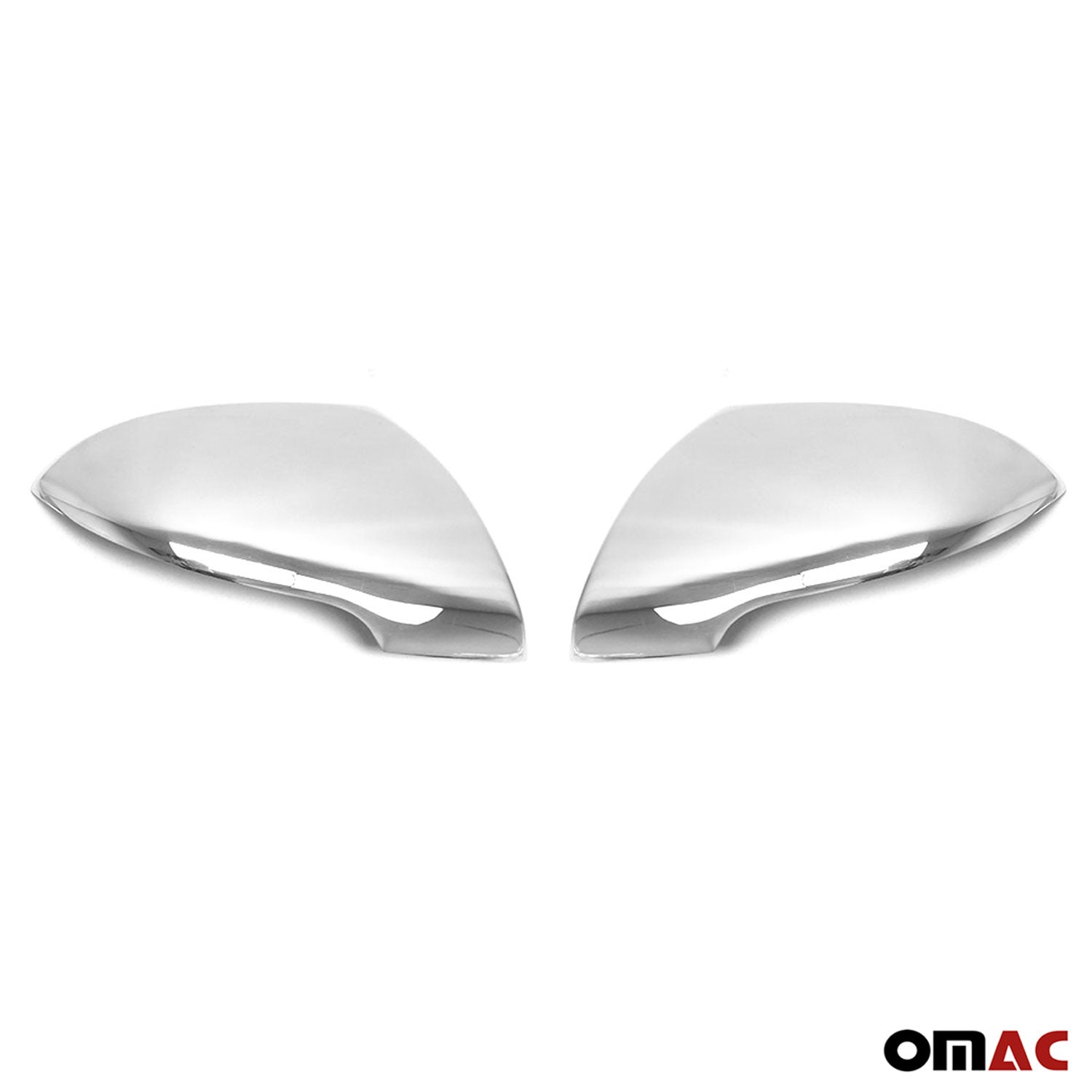 Chrome Side Mirror Cover Cap 2 Pcs Stainless Steel Fits Kia Sportage 2010-2014