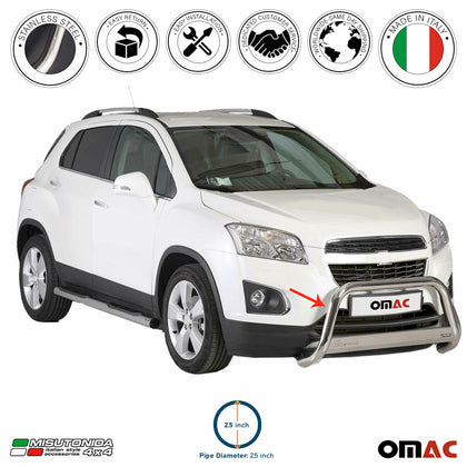 For Chevrolet Trax 2015-2016  Bull Bar Front Bumper Grill Guard Silver Stainless - Omac Shop Usa - Auto Accessories