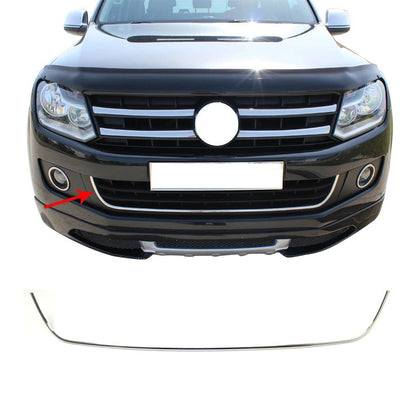 Fits VW Amarok 2010-2016 Stainless Steel Chrome Front Bumper Grill Frame Trim Omac Shop Usa - Auto Accessories