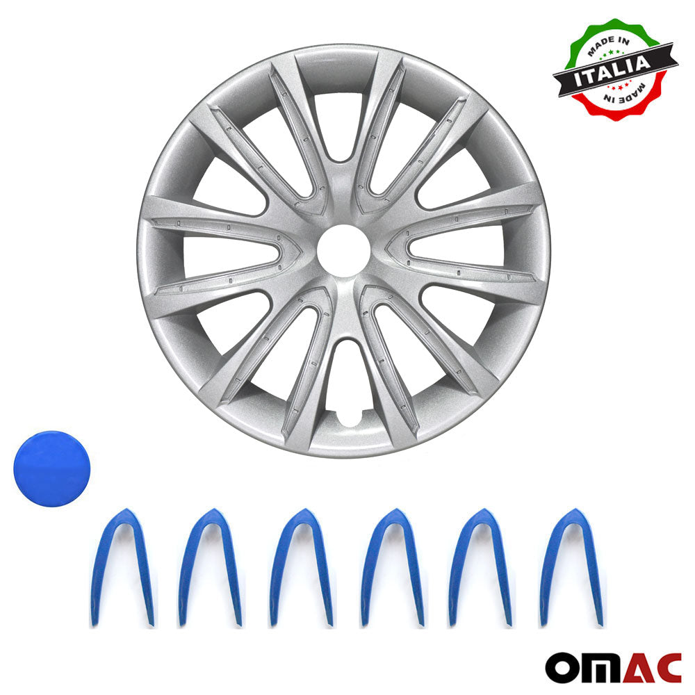 "16"" Inch Hubcaps Wheel Rim Cover Gray & Dark Blue for Toyota Camry 4pcs Set"