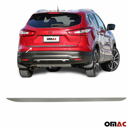 Brushed Chrome Rear Tailgate Trunk Lid MouldingTrim for Nissan Qashqai 2014-2020