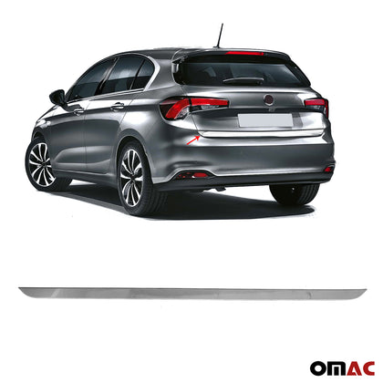 Chrome Lower Tailgate Trim Trunk Door Streamer S.Steel For Fiat Tipo 2015-2020