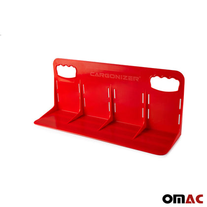 Red Trunk Cargo Organizer Velcro Stopper Stand Large 1Piece For Subaru Crosstrek