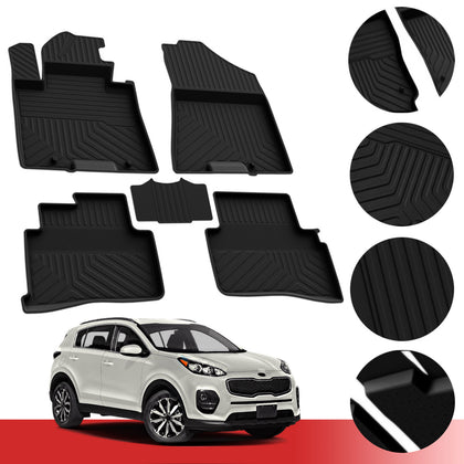 Floor Mats Heavy Duty Rubber Protection Liner Set For Kia Sportage 2017-2021