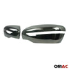 Fits Nissan Qashqai 2017-2020 Dark Chrome Side Mirror Cover Cap 2 Pcs