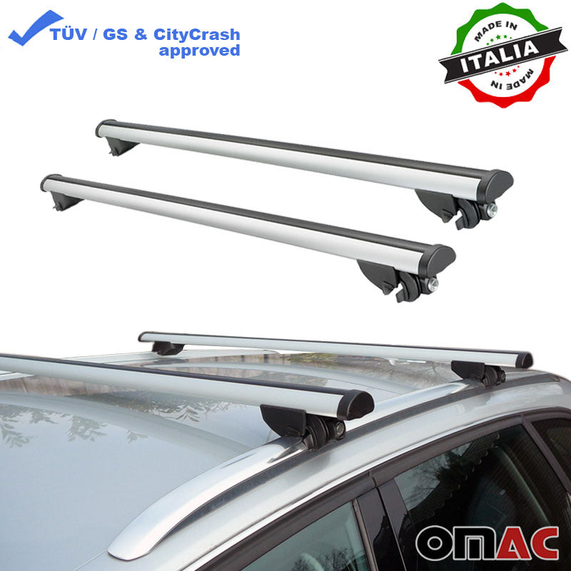 Roof Rack Cross Bars Luggage Carrier Silver for Audi A3 Sportback 2014-2019