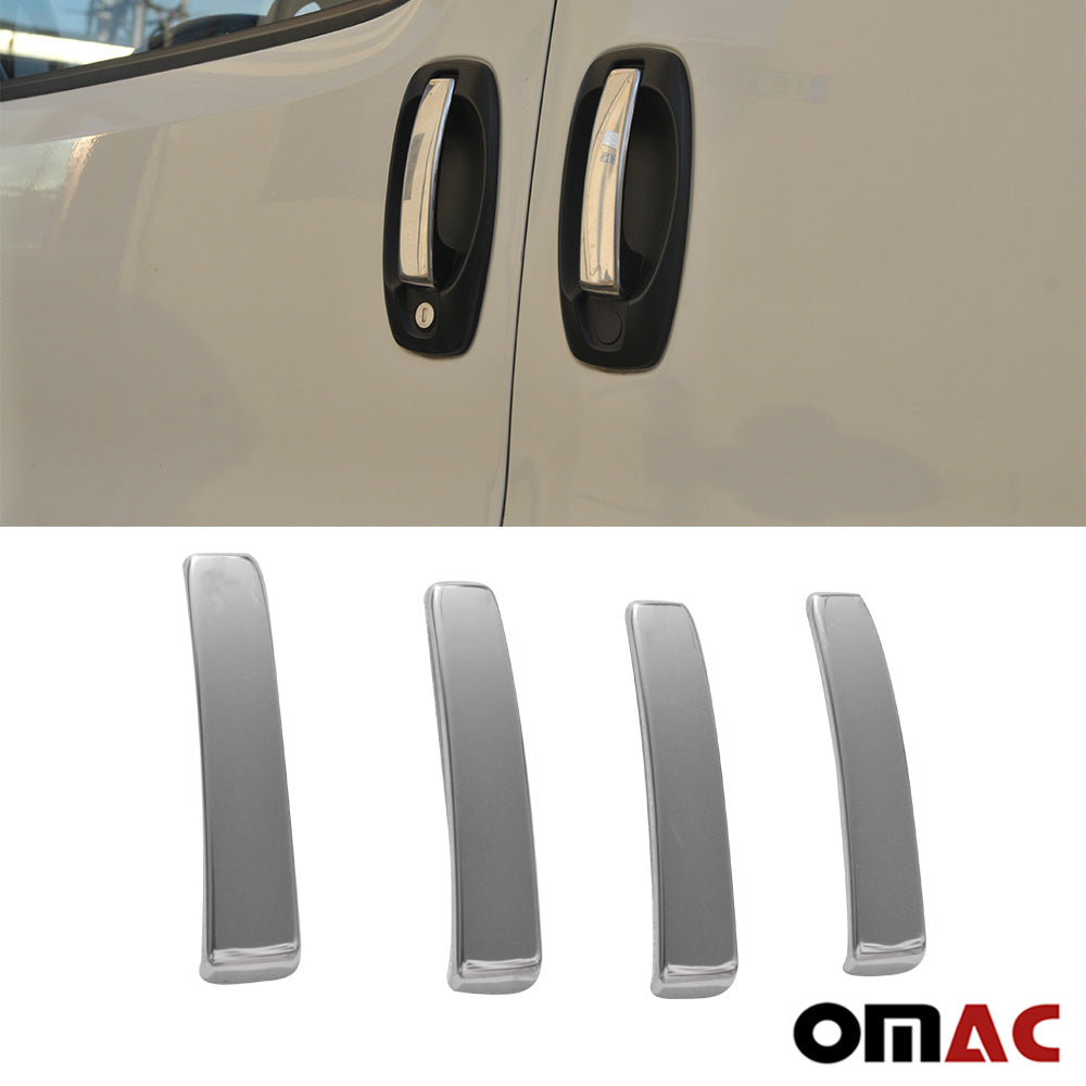 For RAM Promaster City 2015-2020 Chrome Door Handle Trim Cover S.Steel 4Dr 4 Pcs