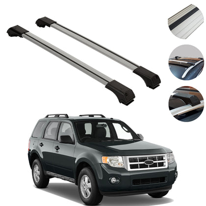 Roof Rack Cross Bars Luggage Carrier Silver 2Pcs Fits For Ford Kuga 2008-2012