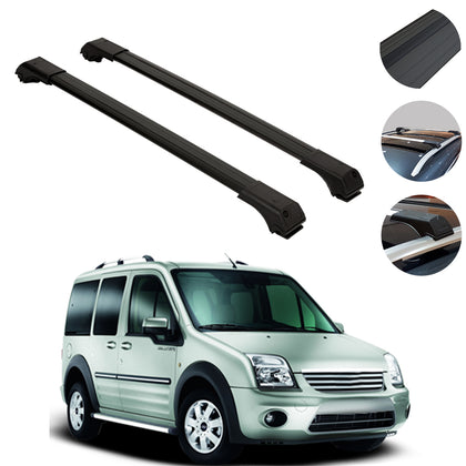 Omac usa - FORD CONNECT 2002-2013 Roof Racks Cross Bars Cross Rails Alu. BLACK SET 2Pcs - Omac Shop Usa - Auto Accessories