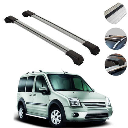 Omac usa - FORD CONNECT 2002-2013 Roof Racks Cross Bars Cross Rails Alu. SILVER SET 2Pcs - Omac Shop Usa - Auto Accessories