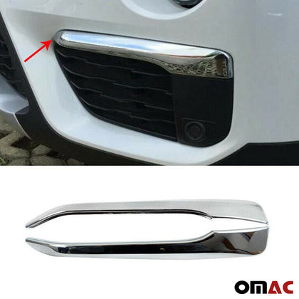 Fits BMW X1 2016-2019 Chrome Front Bumper Grill Frame Trim 2 Pcs Omac Shop Usa - Auto Accessories