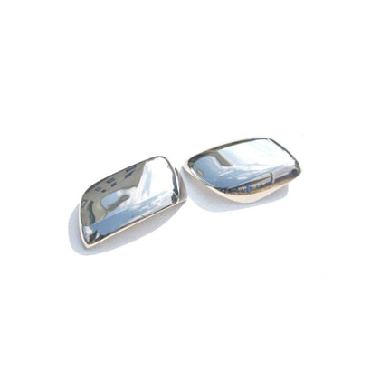 Fits Toyota Land Cruiser 2008-2019 Chrome Side Mirror Cover Cap 2 Pcs W/O Signal Omac Shop Usa - Auto Accessories
