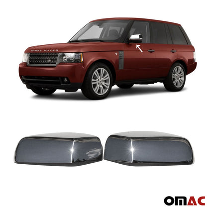 Fits Range Rover 2007-2012 Stainless Steel Chrome Side Mirror Cover Cap 2 Pcs